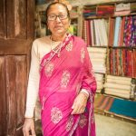 Proprietress of a textile shop in Bandipur