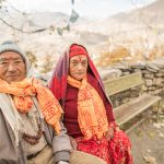 A Nepali couple in Muktinath