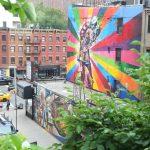 Wall murals seen from the Highline