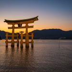 Sunset, The Great Torii Gate  in Miyajima