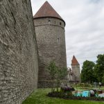 Part of the fortifications walls of Tallinn