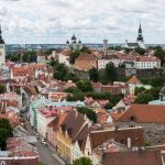 View of Old Town Tallinn with the red roofs