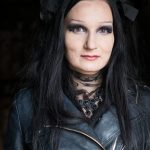 Estonian Woman with Goth make-up