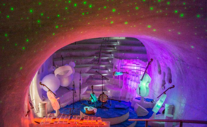The Ice Music Concert Hall in Lulea, Sweden