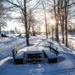 Snow covered park in Ranea