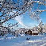 Snow-covered Flakaberg in Swedish Lapland