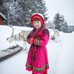 Sami girl at the Jokkmokk Winter Fair