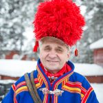 Sami Grandfather at the Jokkmokk Winter Fair
