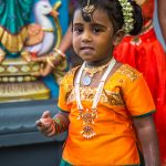 Young Hindu girl at the temple