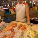 Friendly fishmonger at Tiong Bahru Market