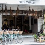 Bicycles parked outside Plain Vanilla, a popular bakery in hipster Tiong Bahru!