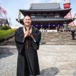 Shinto priest at Zozoji Temple, Tokyo