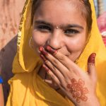 A shy Bikaner beauty with hannaed hands
