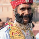 Vikram Modi, a local 'celebrity' because of his famously long moustache