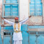 local Bikaner 'celebrity', famous for his long moustache