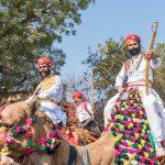 Even more regal Bikaner men arrive --with fabulous moustaches!