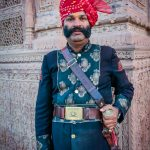 Guard at Laxmi Niwas Palace, Bikaner