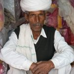 Rajasthani man with white turban