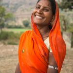Woman in a village outside Udaipur
