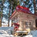 Iwakura Shrine, a local Shinto shrine in Iide