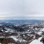 Panoramic vew of the Zao mountain range