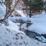 Snow shoeing in Ginzan Onsen