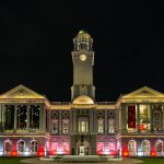 Victoria Theatre and Victoria Concert Hall lit up in hues of red for Singapore's 55th birthday