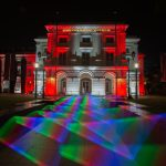 Light painting in front of the Asian Civilisations Museum, Singapore.