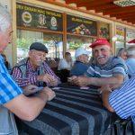 Men playing cards, Uchisar teahouse