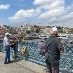 Men fishing on Galata Bridge, Istanbul