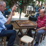 Men playing backgammon, Uskudar