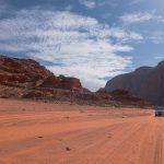 4W drive through the desert landscape, Wadi Rum