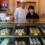 A young couple who run their confectionery shop in Yudanaka, Nagano