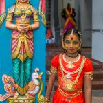 Pretty girl at Thaipusam temple