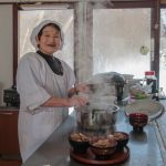 The 80 year old okasan from Iide in Yamagata Prefecture who cooked us a lovely 6 course lunch.