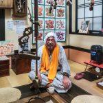 Man who was relaxing after his onsen, Hijiori Onsen, Tohoku