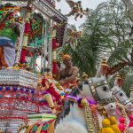 Arrival of the silver chariot at Sri Thendayuthapani Temple